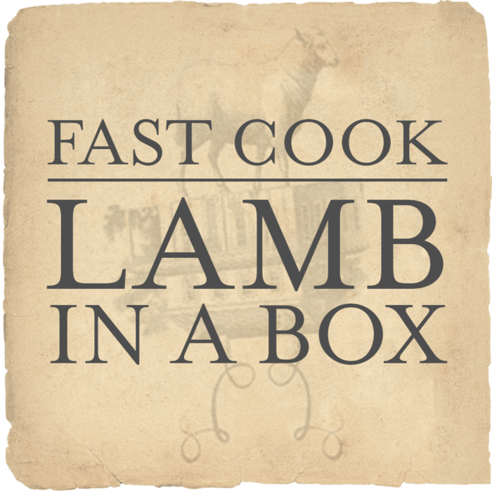 fast cook lamb in a box